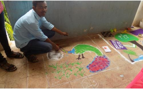 Rangoli Competition in the College