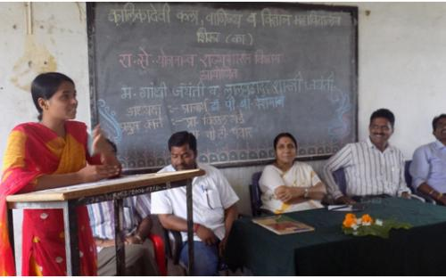 Student participation on the occasion of Lalbhadur Shastri Jayanti
