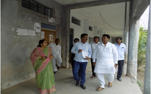 Visit of Hon. Secretary of Adarsh Shikshan Sanstha to the College