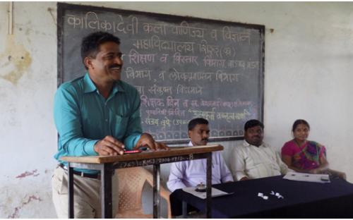 Vice- Prin. S.K Tupe on the occasion of World Teacher Day