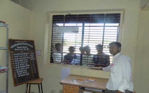 Vittal Tupe working as sales officer in Vidyarthi Sahkari Grahak Bhandar