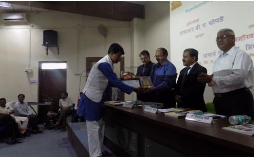 Dr. Gholve A.U. on the occasion of receiving Best Programme Officer award